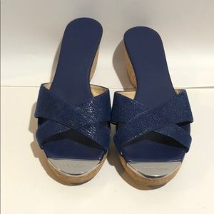 JIMMY CHOO blue wedges size38